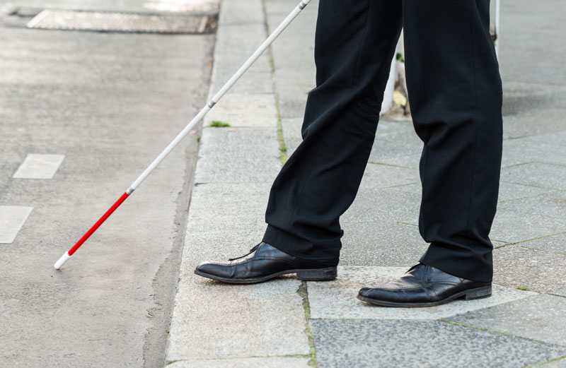 Seeing impairment safe sidewalks